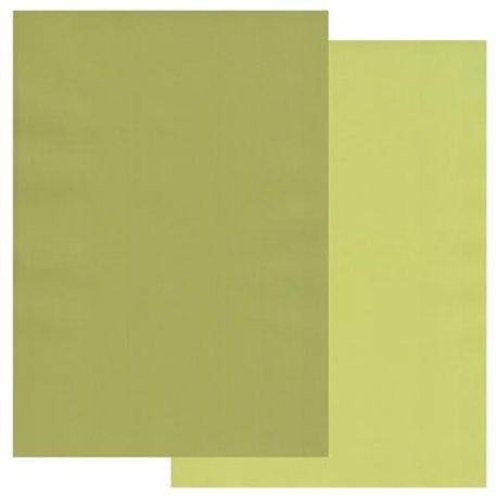 Papier parchemin Groovi assortiment 2 tons vert pomme prairie 40773 10 feuilles