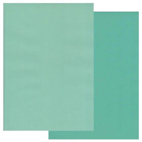 Papier parchemin Groovi assortiment 2 tons de turquoise 40769 10 feuilles