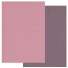 Papier parchemin Groovi assortiment 2 tons vieurx rose figue 40770 10 feuilles