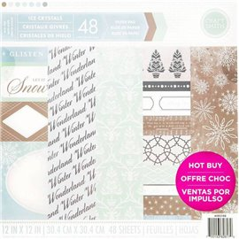 Papier scrapbooking assortiment ice crystals 48fe