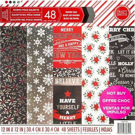 Papier scrapbooking assortiment gazette du pole nord 48fe