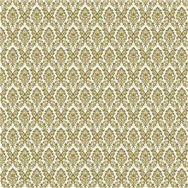Papier tassotti à motifs arabesques doré