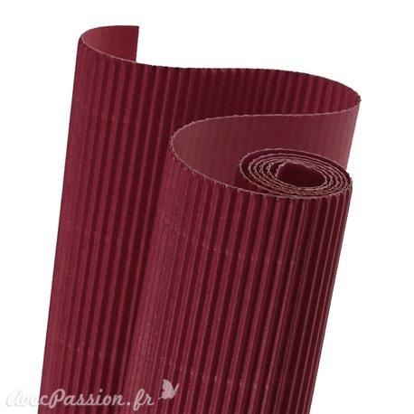 Papier carton ondulé couleur framboise