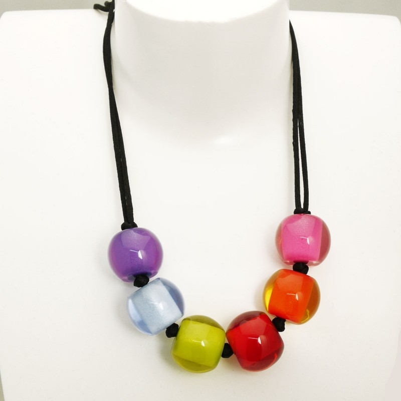collier fantaisie multicolore