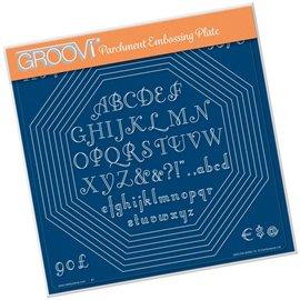 Groovi gabarit tracage parchemin cadres octogone et alphabet