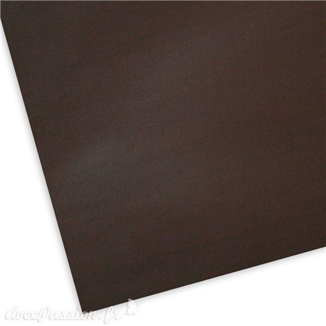 Papier uni texturé picot marron