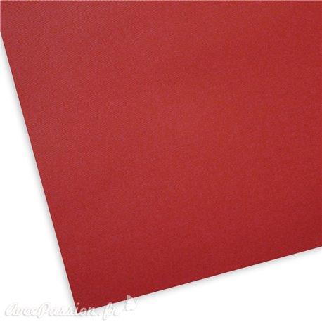 Papier uni texturé picot rouge