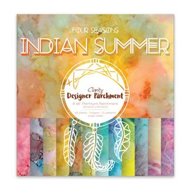 Papier scrapbooking assortiment indian summer 48f recto verso