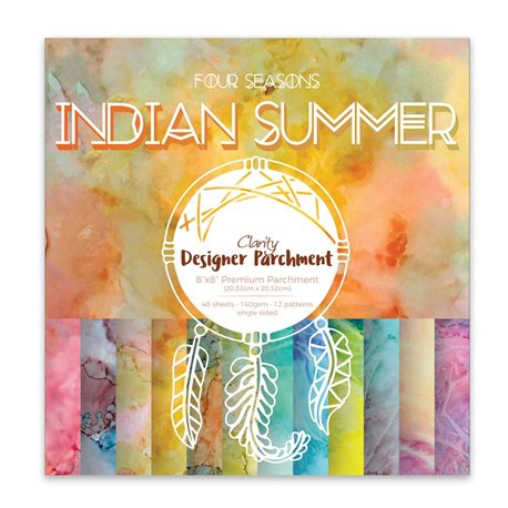 Papier scrapbooking assortiment indian summer 48f recto verso