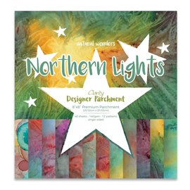 Papier scrapbooking assortiment northern lights 48f recto verso