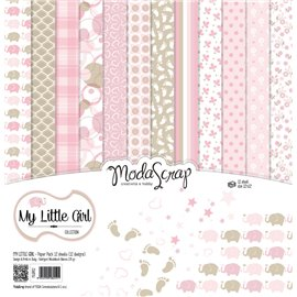 Papier scrapbooking assortiment my little girl 12f