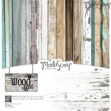 Papier scrapbooking assortiment wood effect 12f
