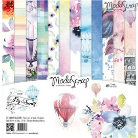 Papier scrapbooking assortiment fly and scrap 12f