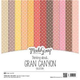 Papier scrapbooking assortiment petits pois grand canyon 12f