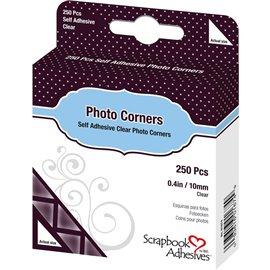 Coins photos transparents adhésifs 10mm 250p