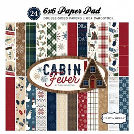 Papier scrapbooking assortiment noël cabin fever 24fe