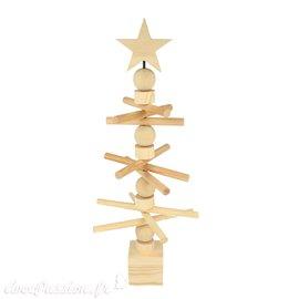 Objet en bois brut sapin rotatif design à poser