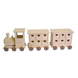 Armoire à 24 tiroirs en bois à décorer calendrier de l'Avent noel