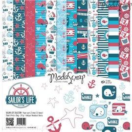 Papier scrapbooking assortiment la vie de la mer 12f