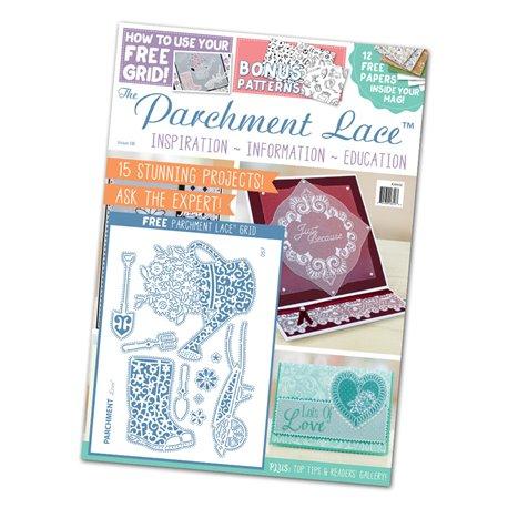Parchment Lace magazine Pergamano n°8 + 1 grille de motifs