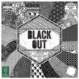 Papier scrapbooking assortiment black out 48fe