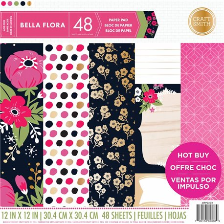 Papier scrapbooking assortiment bela flora 48fe