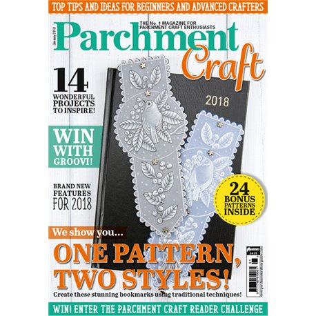 Parchment Craft magazine Pergamano janvier 2018 one pattern