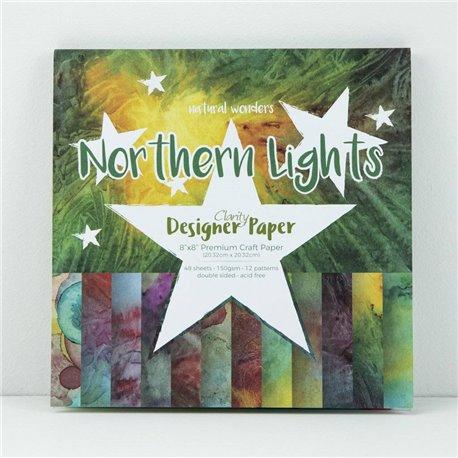 Papier scrapbooking assortiment northern lights 48f recto verso