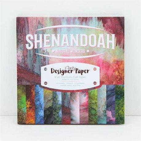 Papier scrapbooking assortiment shenandoah 48f recto verso