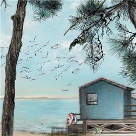 Carte d'art Valie Le Boeuf Tchanquetas 14x14cm
