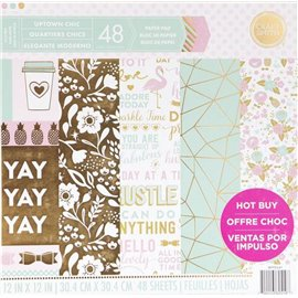 Papier scrapbooking assortiment uptown chic 48fe