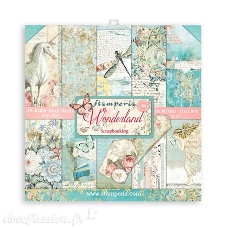 Papier scrap assortiment wonderland 10f recto verso
