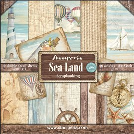 Papier scrap assortiment sea land 10f recto verso