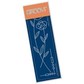 Règle tracage bordures du parchemin Groovi fleurs art nouveau