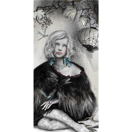Carte d'art Valie Le Boeuf Calie 14x28 cm