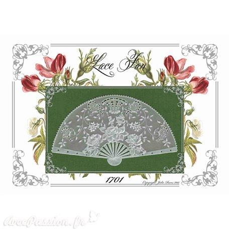 Modèles Julie Roces patron Pergamano Lace Fan 1701