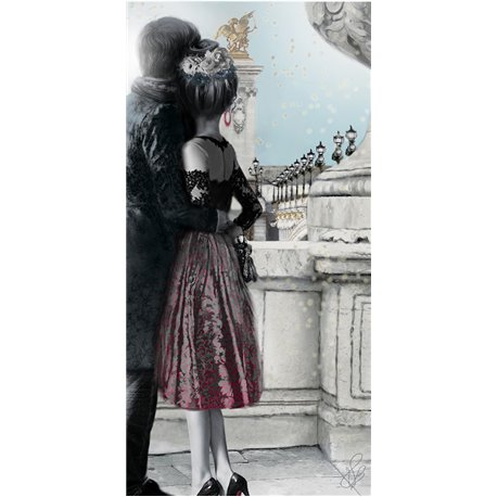 Carte d'art Valie Le Boeuf Pont Alexandre III