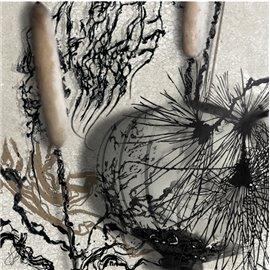 Carte d'art Valie Le Boeuf Encre de Chine 14x14 cm