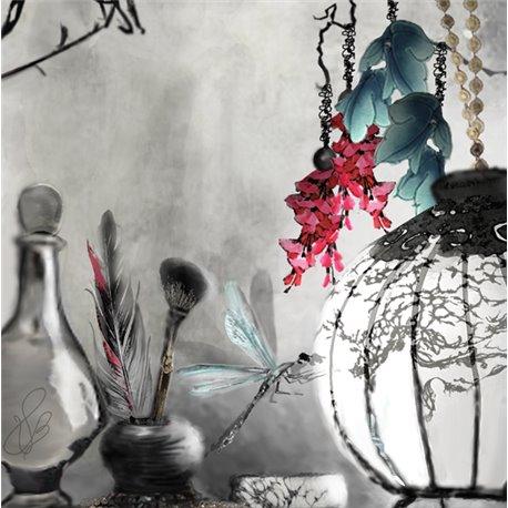 Carte d'art Valie Le Boeuf Rêve d'Orient 14x14 cm