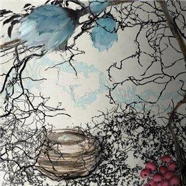 Carte d'art Valie Le Boeuf Plume Enchantée 14x14 cm