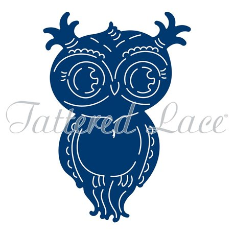 Dies découpe gaufrage chouette owlbert tattered lace