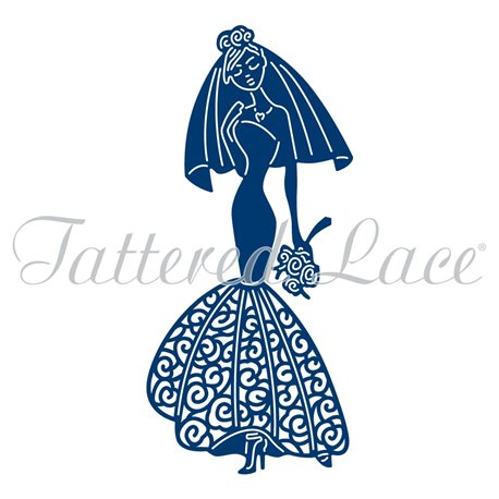 Dies découpe gaufrage matrice Tattered Lace robe de mariée