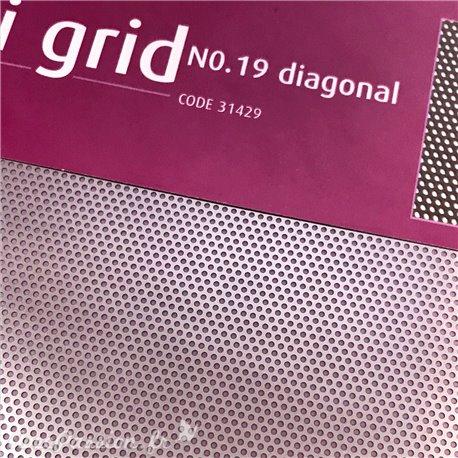 Pergamano grille embossage ciselage 19 diagonale