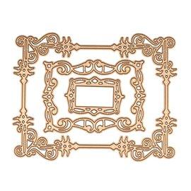 Dies découpe gaufrage cadre tourbillon décoratif Card Creator Spellbinders