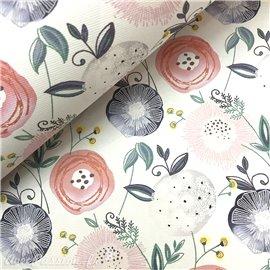 Papier italien motifs finlande fleurs