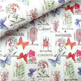Papier italien motifs fleurs et papillons