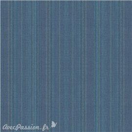 Simili imitation toile enduite texmex bleu moyen chiné
