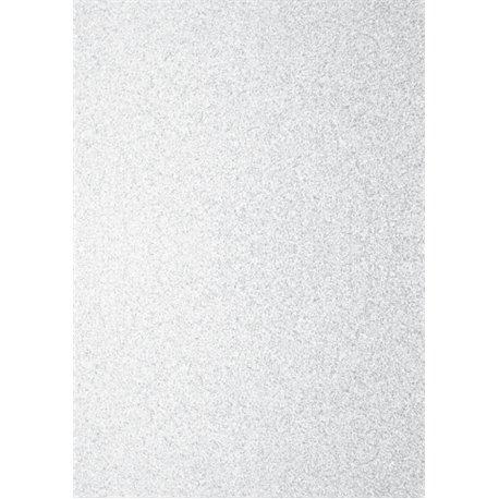 Papier pour carte et faire part blanc irisé pailleté x2 200g