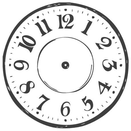 Tampon bois horloge