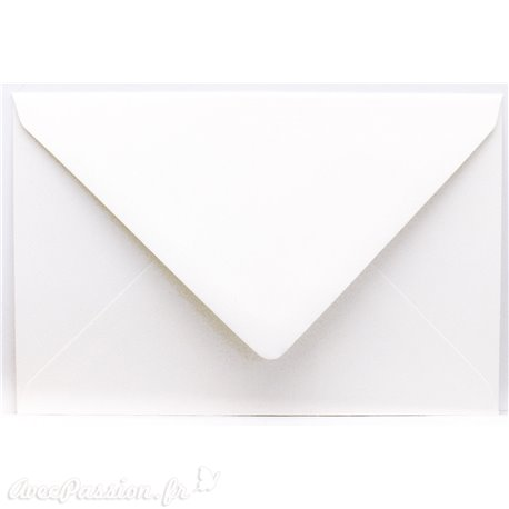 Enveloppes rectangle blanc irisé 11x15.6cm qu50
